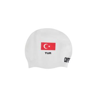 Arena Moulded Turkey Flag Yüzücü Bonesi