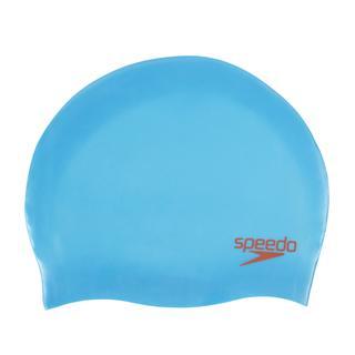 Speedo Plaın Moulded Sılc Ju Blu/Red Çocuk Yüzücü Bonesi