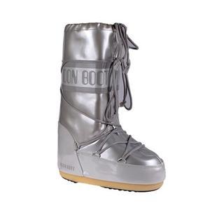 Moon Boot Vinile Met White Kadın Kar Botu