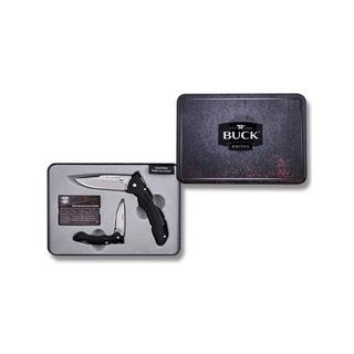 Buck Knives Buck 11865 Siyah Saplı Çakı Set Metal Kutu