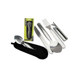 Summit 5 Parça Çatal Kaşık Bıçak Seti Paslanmaz Çelik Taşıma Çantalı
