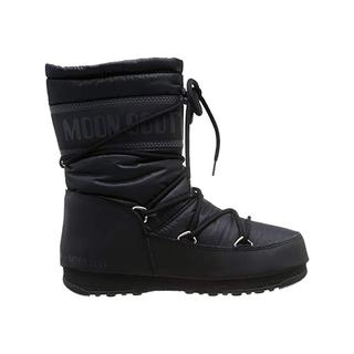 Moon Boot Mıd Nylon Waterproof Black Kadın Kar Botu